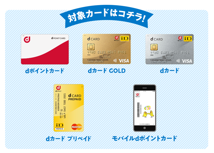 2.dポイントカード、dポイントカード/モバイルを提示する