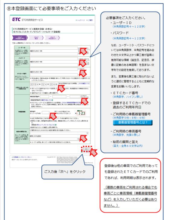 新規登録の具体的な流れ