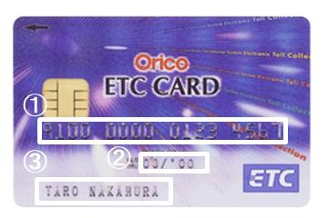 1.最初は「ETCカードを意味する番号」