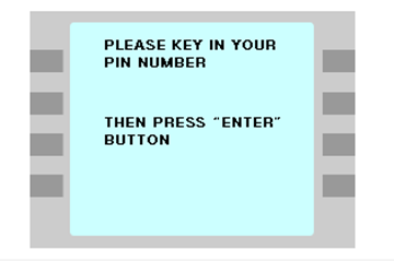 暗証番号の入力