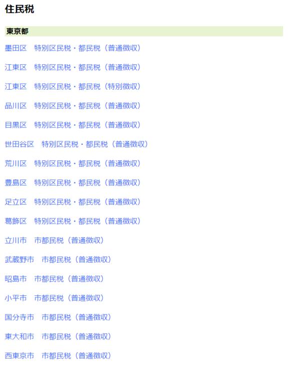 Yahoo!公金払いで「住民税」が支払い可能な東京都の区